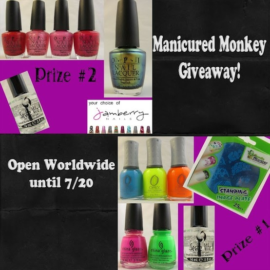 Manicured Monkey Giveaway of polish and stamping plates!