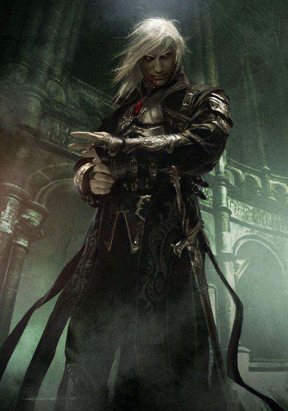 Guerrier mage roublard elfe noir vampire