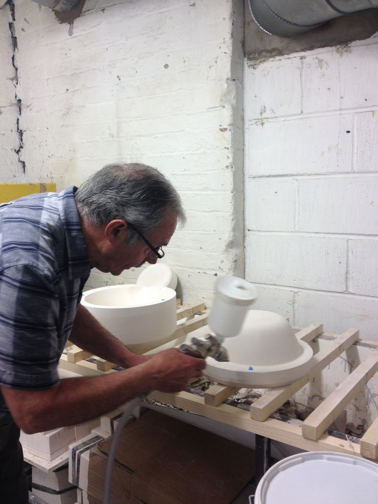 Bowls in production for Freight in Stoke.