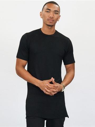 MENS TUNIC TOP BLACK