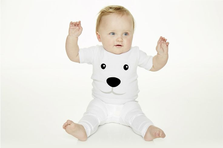Polar bear t-shirt for kids and infants. Available now at www.reallywildchild.com. Really Wild Child. Made for little animals.