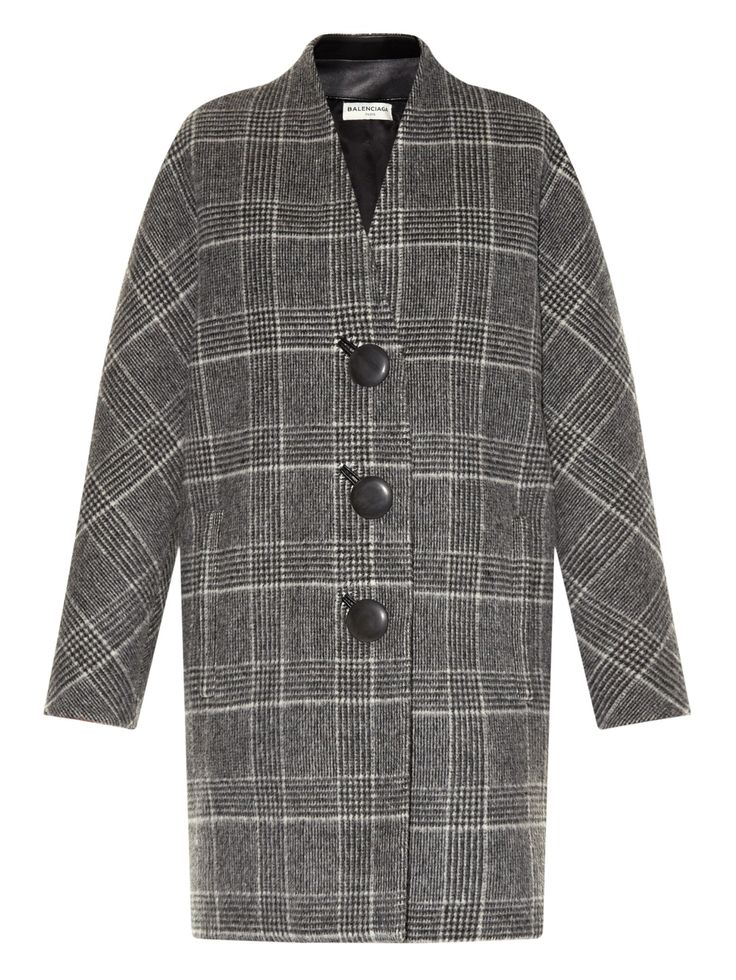 Wool and alpaca-blend cocoon coat   Balenciaga   MATCHESFASHION.COM