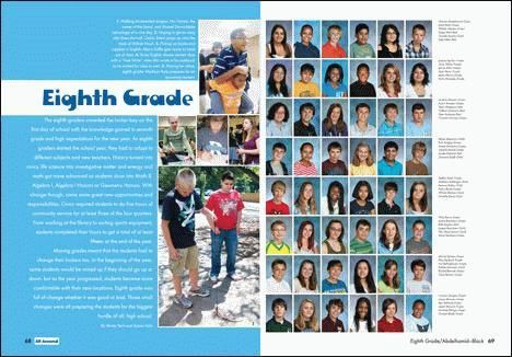 Middle School Yearbook Portrait section