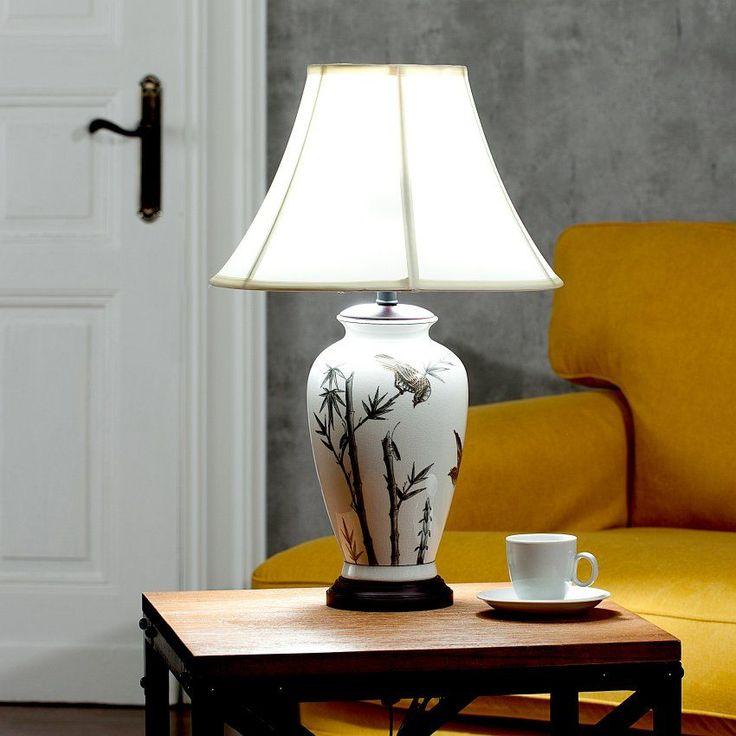 Lampa stołowa Sakura ceramiczna 61cm  61cm #dekoracje #meble #furniture #lamp #lampy #interior #design #decoration #salon #livingroom #home
