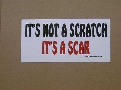 It not a scratch truck bumper sticker funny decal