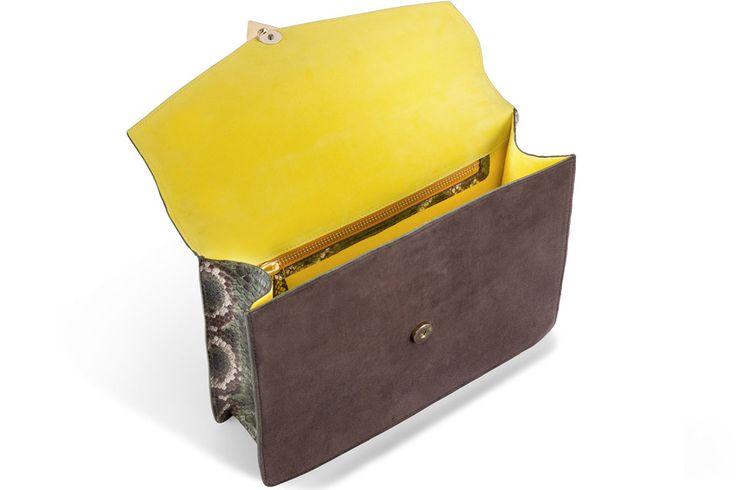 Morgana Python and Suede – Bag Kastunis