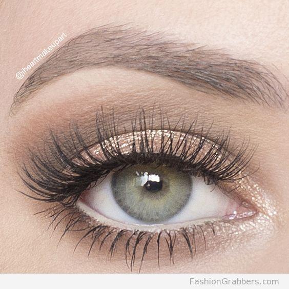 7a7f84b363e Soft shimmery eye makeup for green eyes   #weddingmakeup   makeup ...