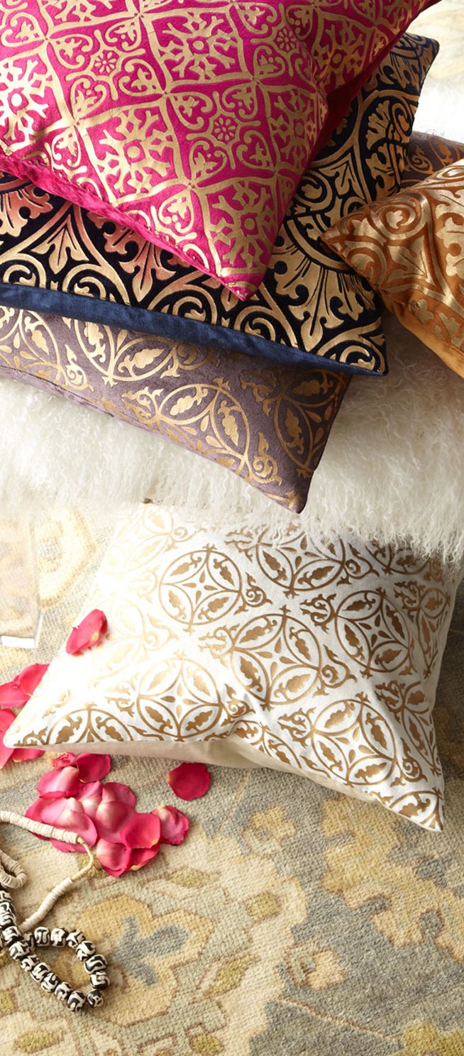 indian antique french cushions. Plain-colored Pillow Cases For Mail Pillows + A Few Fancy Toss Pillows? I Indian Antique French Cushions