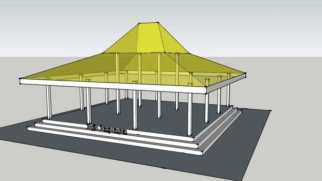 Rumah Jawa - Joglo Jompongan - 3D Warehouse