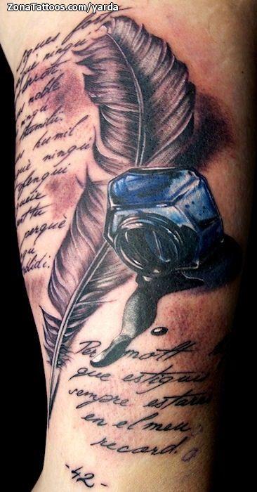 tintero con pluma tattoo - Buscar con Google