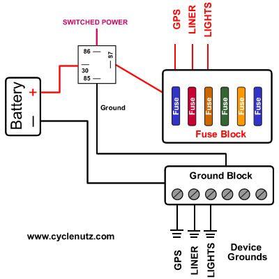 Honda Vtx Wiring Diagram Fuse Block Amp Ground Block Wiring Motorcycle Electrical