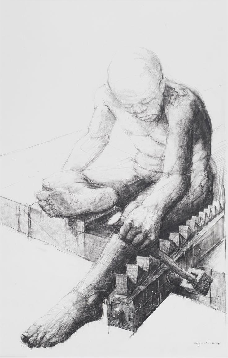 Craig Muller, Humdrum, Oil based pitt on paper #art #drawing #illustration (40 x 60cm)  www.art.co.za/craigmuller