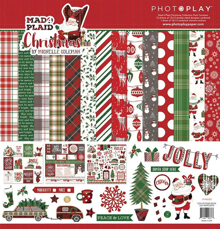 - Collection Kit - Mad 4 Plaid (PP) | Christmas scrapbook ...