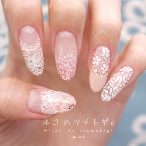 Lace nail art.
