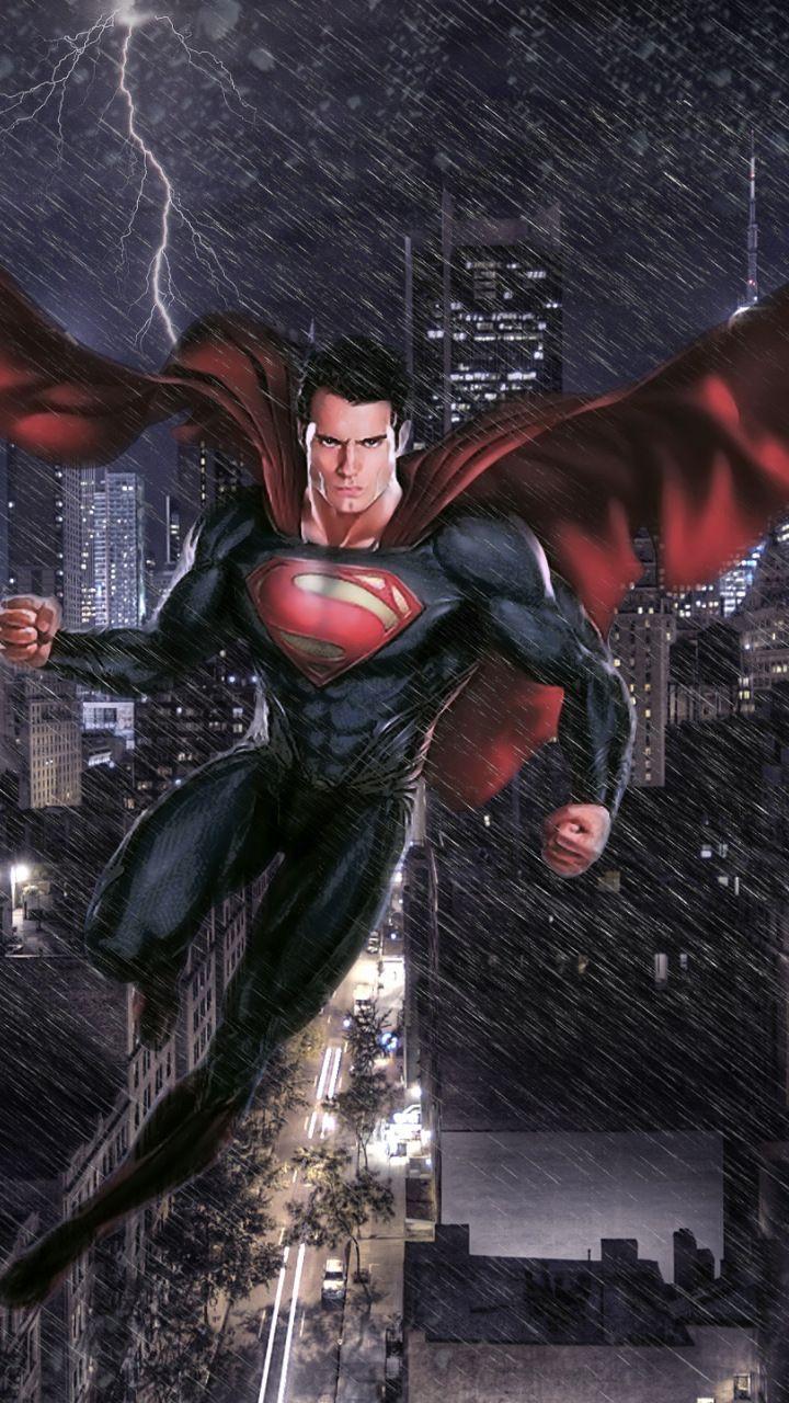 Man of steel, movie, superman, art, 720x1280 wallpaper   DC