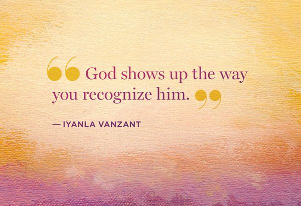 He shows up the way you recognize him.