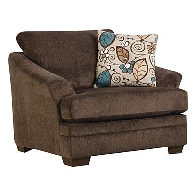 Simmons sunflower brown chair and a quarter at big lots - Simmons living room furniture sets ...