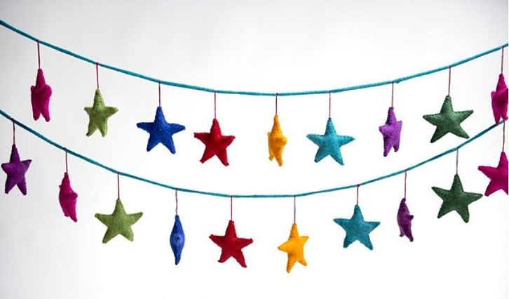 The Gecko Shack - Star Garland in Rainbow colours hand crafted from NZ felt       (2m long) , $39.95 (http://www.geckoshack.com.au/star-garland-in-rainbow-colours-hand-crafted-from-nz-felt-2m-long/)