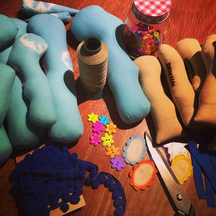 Unicorn and Little Burro legs ready to attach. Tie dyed and coffee dyed fabrics.