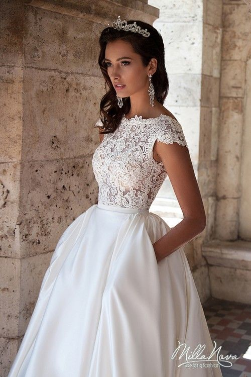 Piękna Suknia ślubna Millanova Roz 3436 Koronka Inne Pinterest