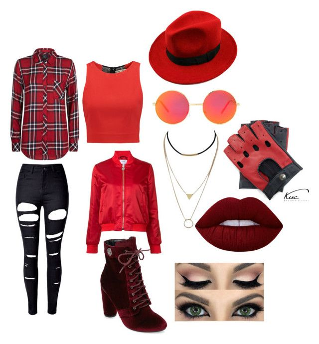 """""""9"""" by midnighthillzy on Polyvore featuring Lime Crime, Rails, WithChic, Alice + Olivia, Catherine Catherine Malandrino, Revo and Carven"""