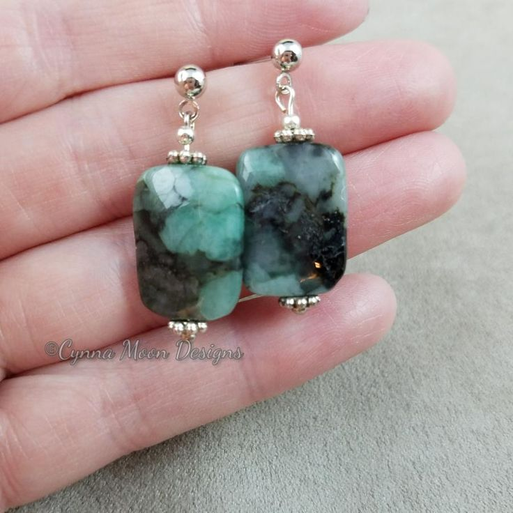 Emerald Earrings by Cindy A.