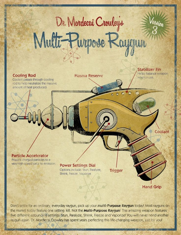 Retro Ray Gun by artist Michael Murdock