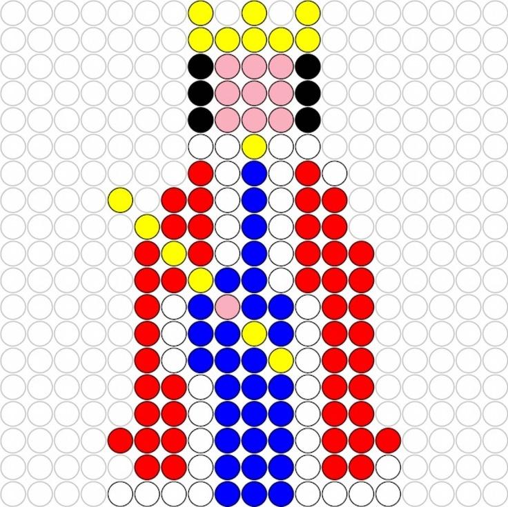 King perler bead pattern