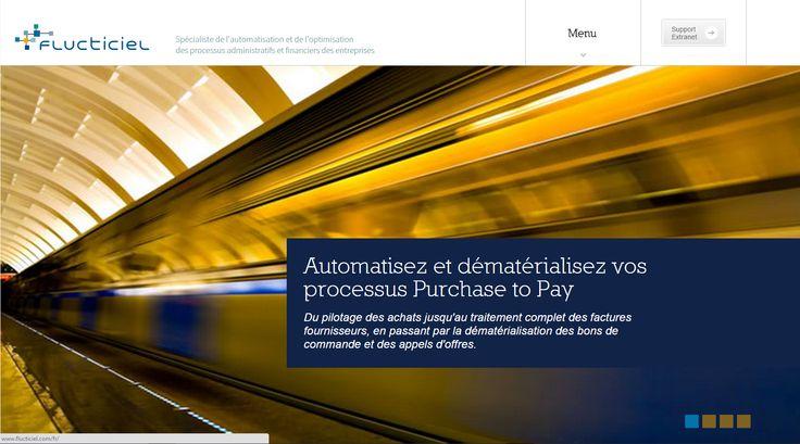 Site web responsive pour FLUCTICIEL, intégrateur de logiciels - 2014