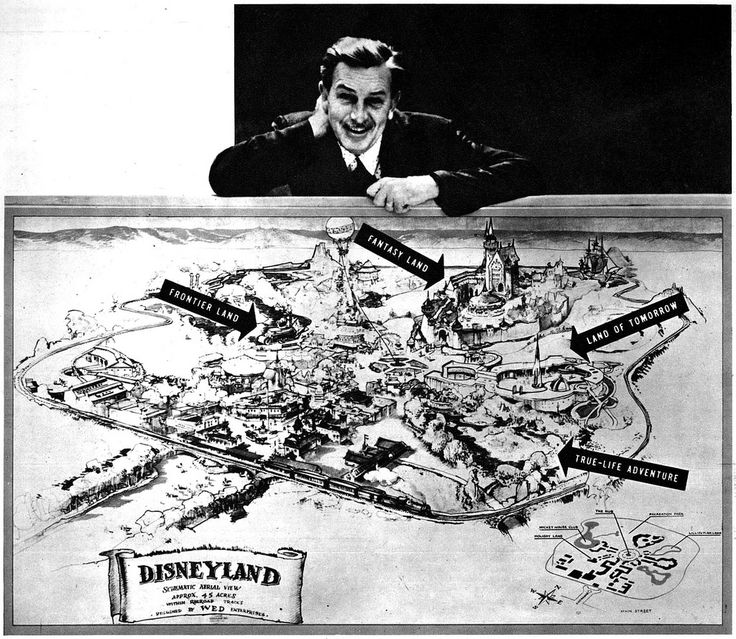 All sizes | Walt Disney posing with an early map of Disneyland, 1954 | Flickr - Photo Sharing!