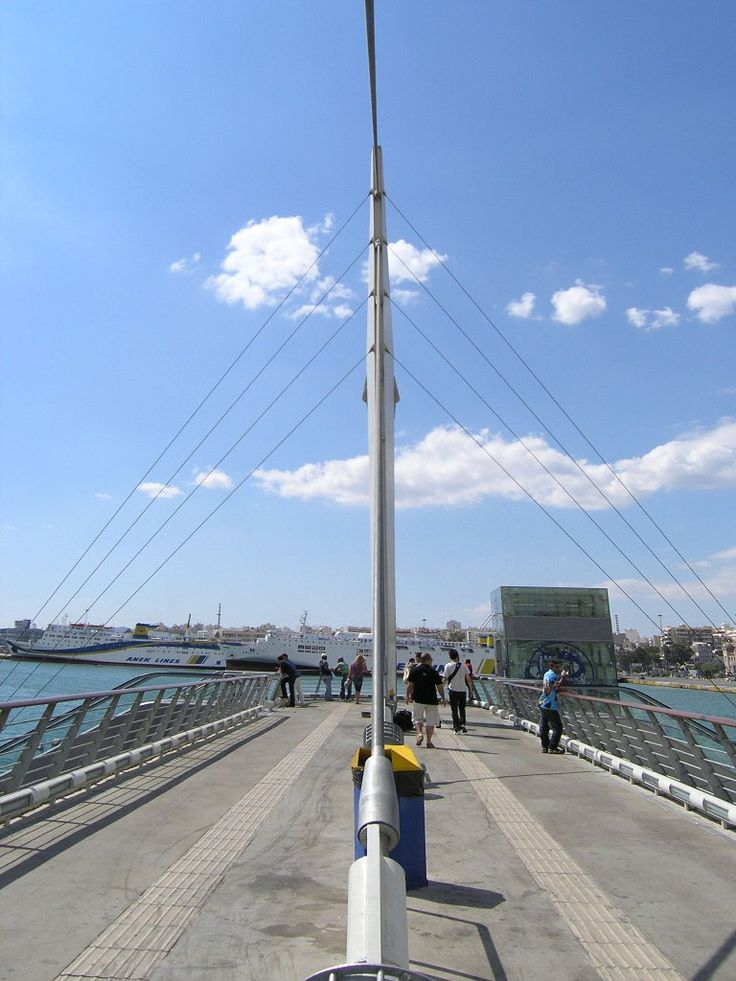 Pedestrian Bridge of Piraeus Port
