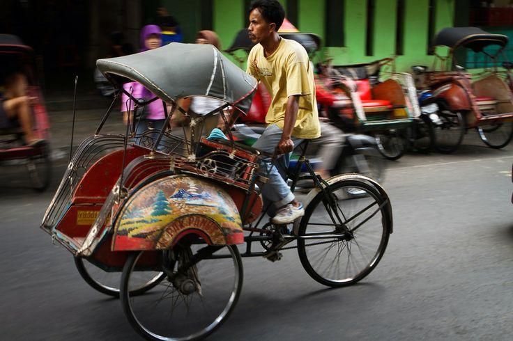Becak Driver, Yogyakarta Indonesia by Thomas Dembie on 500px