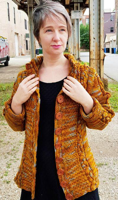 Rail yard cardigan : Knitty.com - Deep Fall 2015 - free pattern