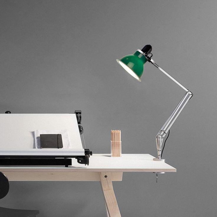 anglepoise lighting. lampe pincer type 1228 vert fonc h53cm anglepoise anglepoise lighting