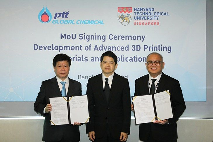Nanyang Technological University, Singapore (NTU Singapore) and Thailand's PTT Global Chemical (PTTGC) will collaborate to develop advanced 3D printing materials for the next-generation automotive industry. PTTGC is Thailand's largest petrochemical and refining company. With eight main...