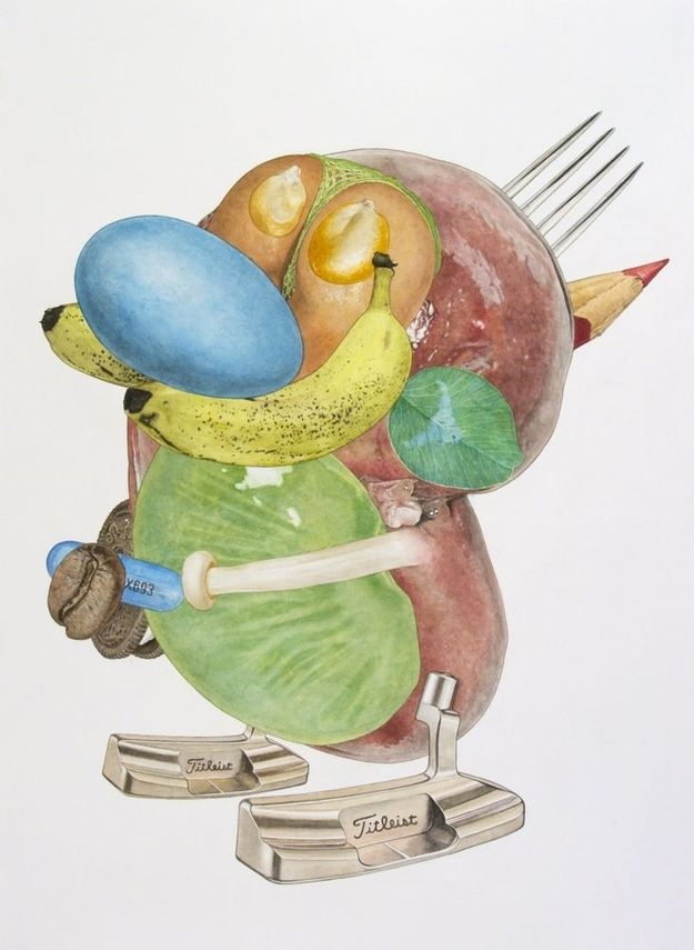 Popular Cartoon Characters Made Out Of Objects And Body Parts