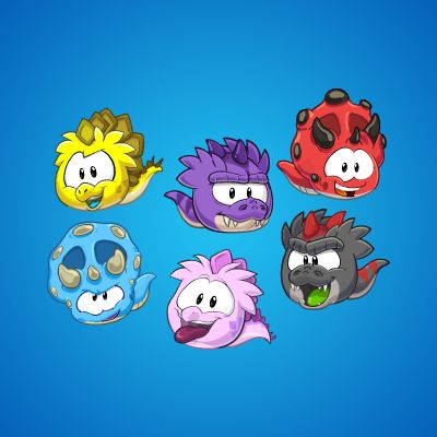 Dino puffles!!!!! These were available earlier this year during the prehistoric party.