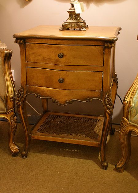Versailles gold gilt french 2 drawer bedside table