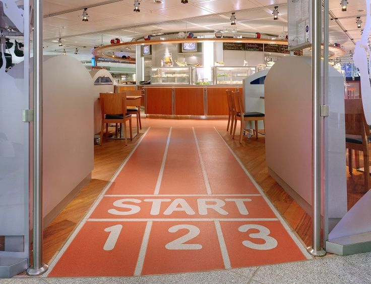 On your marks, get set, GO! Erdinger Sports Bar in Germany trusted Altro Walkway to keep their clientèle safe on their way to (and from) the bar.