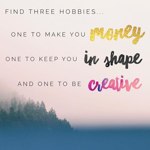Good morning ☀️ I'm SO tired today, but I'm ready to show this Monday who's boss  I love this nugget of wisdom and thought I'd share it with all of you! They say you should find three hobbies you love: one to make you money, one to keep you in shape, and one to be creative. Mine are: (1) Distributing LipSense  (2) Hiking ⛰ (3) Designing personalized birthday cards  I wanna know yours! Tell me below