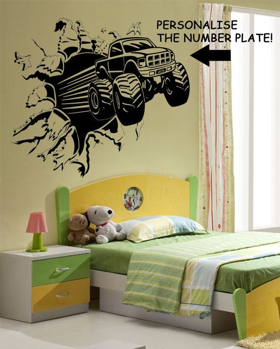 77 best sticker decal monster truck images on Pinterest | Boy rooms ...