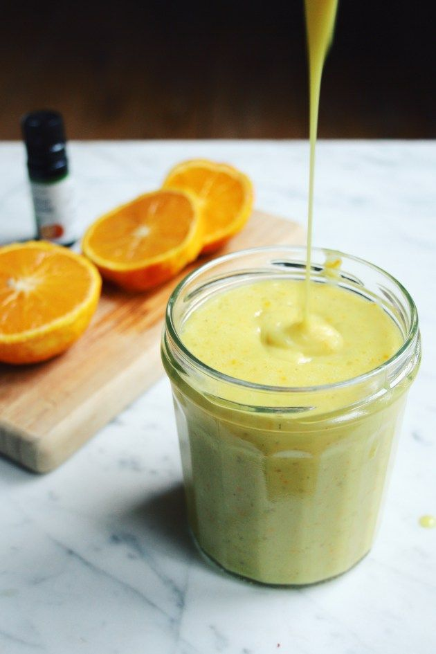 Vegan orange curd