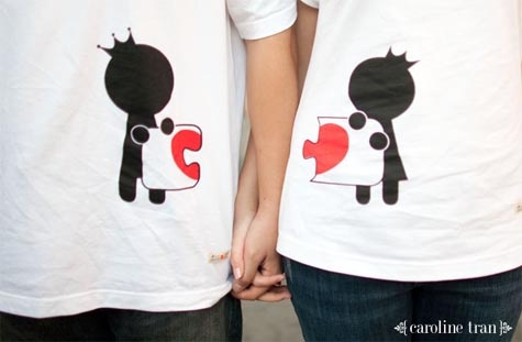 'Match the Love Sign'   it`s a fun idea, just curious .. where they got those cute tshirt.