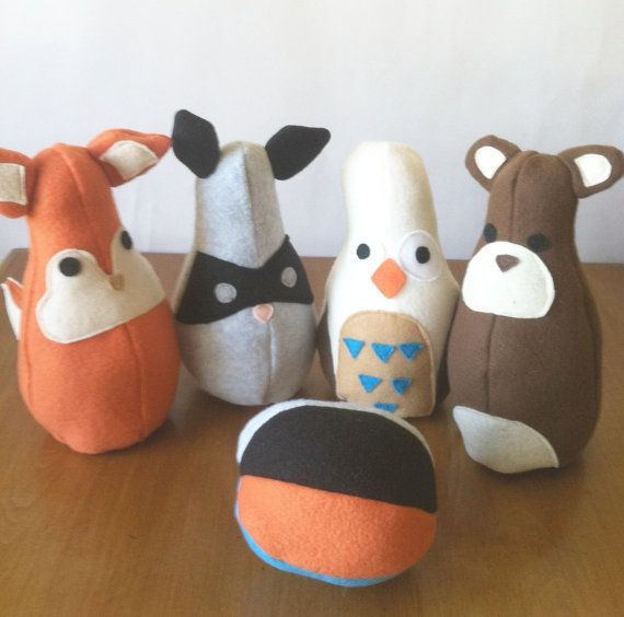 Hey, I found this really awesome Etsy listing at https://www.etsy.com/listing/152912984/woodland-creatures-bowling-set-woodland
