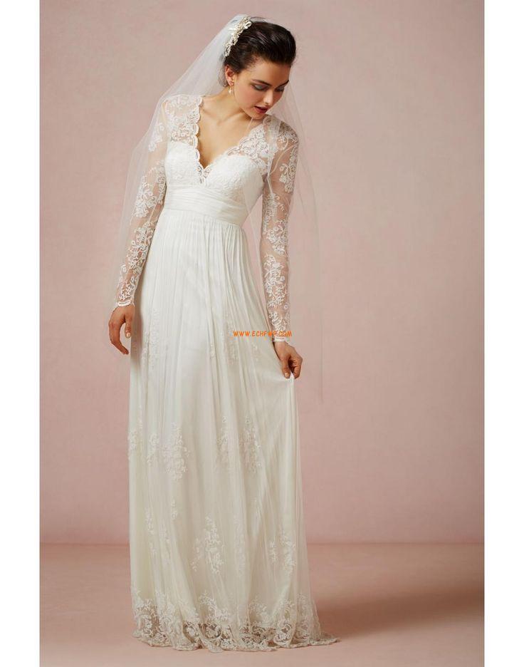 Grandes tailles Robederéception Naturel Robes de mariée Designer
