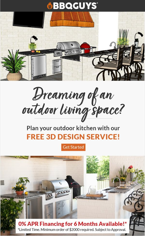 Plan And Design Your Own Outdoor Kitchen With Our Free 3d Design Service In 2020 With Images Kitchen Design Plans Outdoor Kitchen Outdoor Kitchen Plans