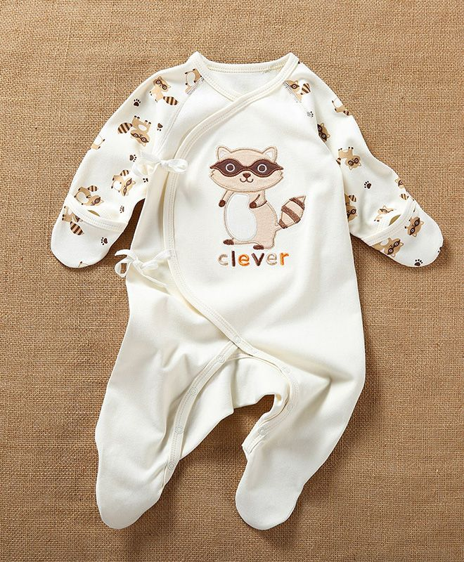 Naturally Colored Cotton Newborn Clothes Spring & Autumn Baby Boy Romper Long-Sleeved Comfort Baby Girl Clothing Appropriate Height: 52, 59, 66, 73 cm