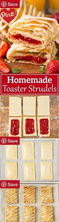 Homemade Toaster Strudels #delicious #diy #Easy #food #love #recipe #recipes #tutorial #yummy @Mommas Kitchen - Make sure to follow cause we post alot of food recipes and DIY we post Food and drinks gifts animals and pets and sometimes art and of course Diy and crafts films music garden hair and beauty and make up health and fitness and yes we do post womens fashion sometimes and even wedding ideas travel and sport science and nature products and photography outdoors and indoors mens fashion…