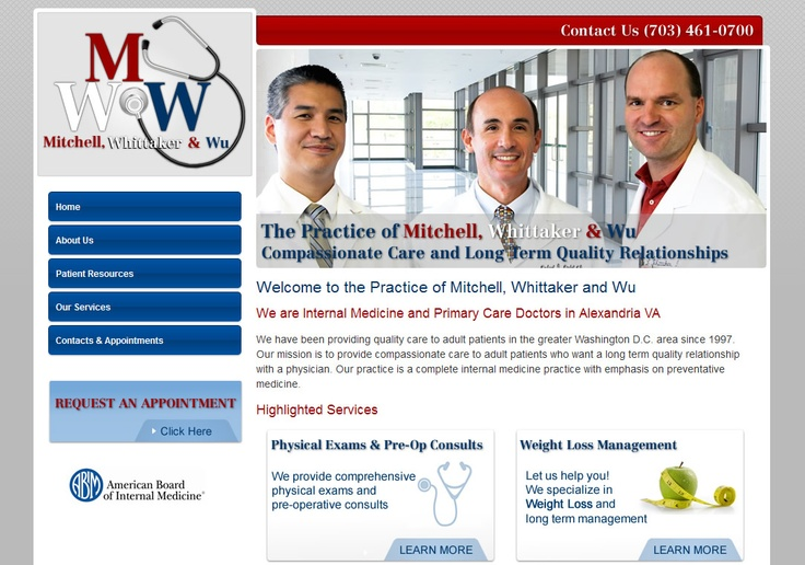 http://www.doctorsalexandriava.com  Doctors Alexandria Virginia * Internal Medicine Doctors Northern VA 22304 * Mitchell, Whittaker and Wu * Primary Care Doctors Washington DC Area