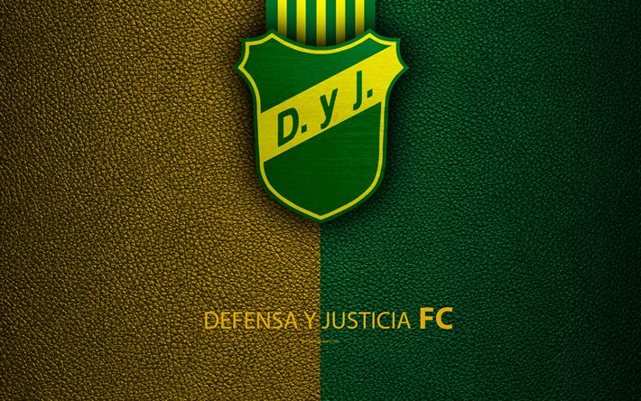 Download wallpapers Defensa y Justicia, 4k, logo, Florencio Varela, Argentina, leather texture, football, Argentinian football club, emblem, Superliga, Argentina Football Championships, First Division